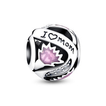 Pink Flower For Mom CHARM