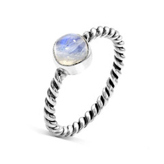 MOONSTONE RING - CLOUDY SHIELD