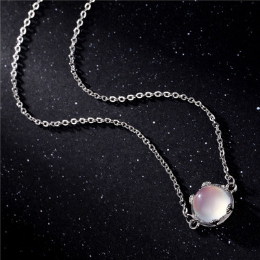 MOONSTONE NECKLACE - CRESCENT MOON