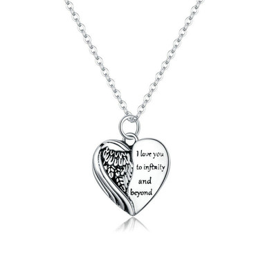 STERLING SILVER PENDANT - FLYING HEART