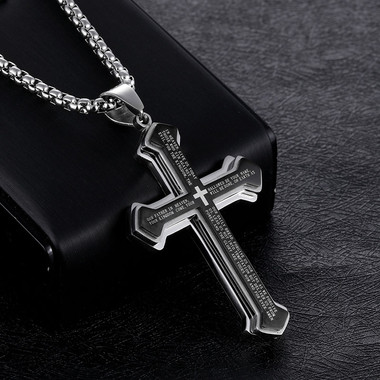 TITANIUM STEEL PENDANT - CROSS