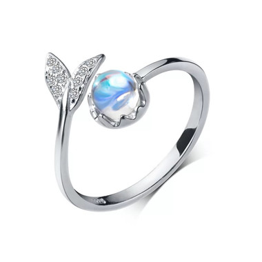MOONSTONE RING - MERMAID