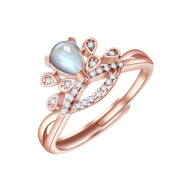 MOONSTONE RING - CROWN