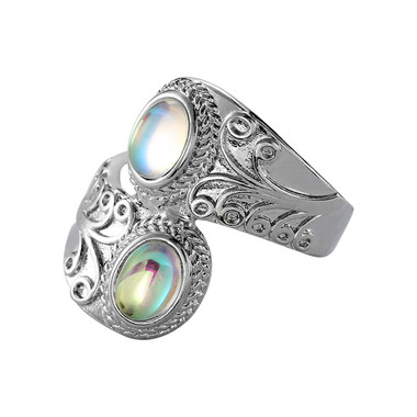 MOONSTONE RING - PUNK STYLE