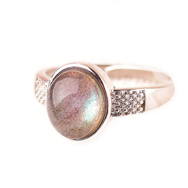 MOONSTONE RING - GREY MOONLIGHT TWO