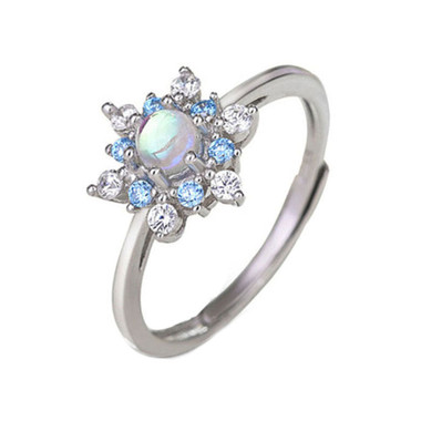 MOONSTONE RING - SNOWFLAKE