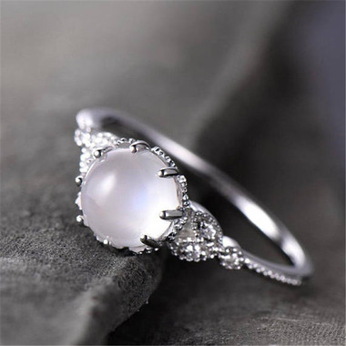 MOONSTONE RING - LIFTED MOON