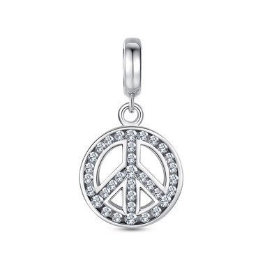 Symbol of Peace-Swarovski Dangle Charm