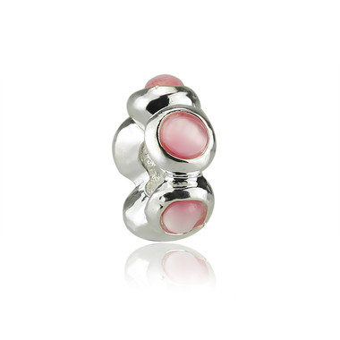 Pink Shape In Circle Charm