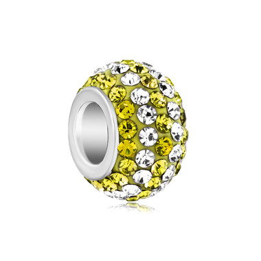Birthstone Charm With Yellow & White Crystal