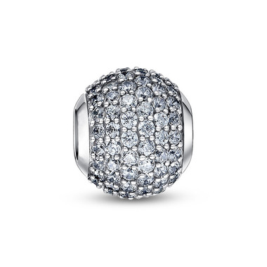APRIL BIRTHSTONE-CLEAR PAVED CRYSTAL CHARM