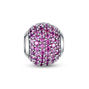 OCTOBER BIRTHSTONE-MAGENTA PAVED CRYSTAL CHARM