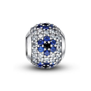 BLUE PAVED CRYSTAL CHARM
