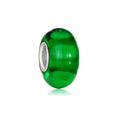 Green 925 Sterling Silver Murano Glass Beads