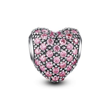 BRIGHT PINK PAVED CRYSTAL CHARM