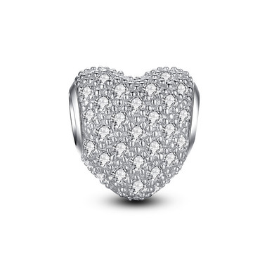 BRIGHT SILVER PAVED CRYSTAL CHARM