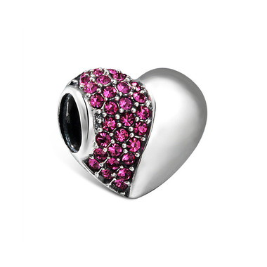 Rose Love HEART CHARM - SWAROVSKI