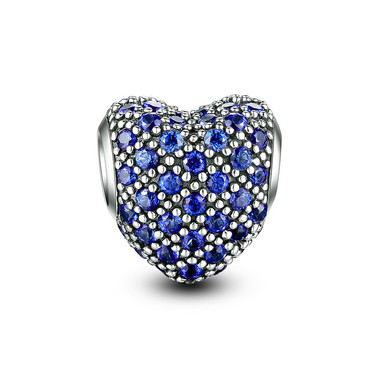BRIGHT BLUE PAVED CRYSTAL CHARM