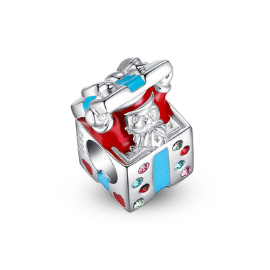 SANTA JACK-IN-THE-BOX CHARM - SWAROVSKI
