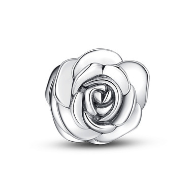 JUNE FLOWER-SILVER ROSE CHARM