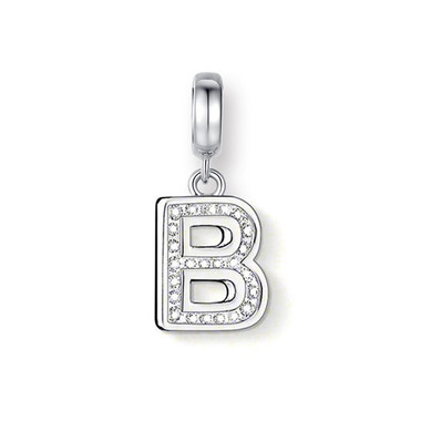 "CRYSTAL ""B"" DANGLE CHARM"