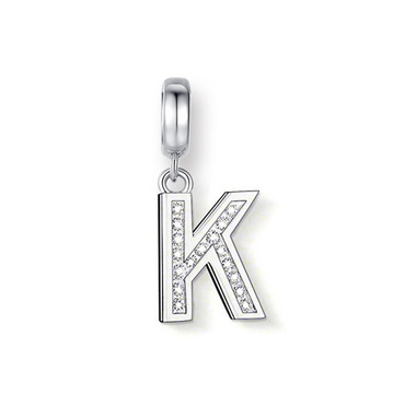 "CRYSTAL ""K"" DANGLE CHARM"